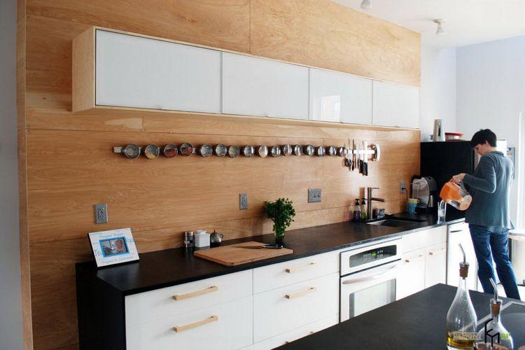 Wandverkleidung aus Holz in der Küche | Küche...kitchen ...