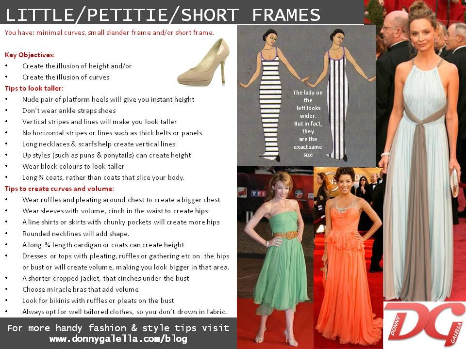 Petite / Short frame body shape | Donny Galella's blog