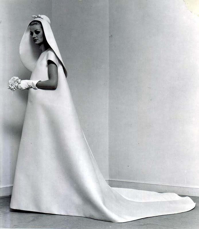 Minimalist Wedding Dress By Cristobal Balenciaga 1967 Non Emotive Designnon Design Elements Are Usually Typified Geometric Composition And Or