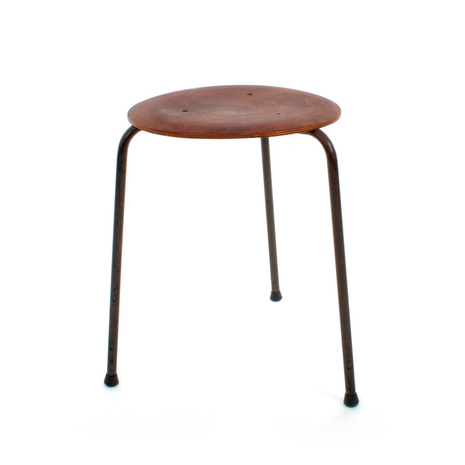 Dot rosewood stool by arne jacobsen fritz hansen 1952 iconic mid century danish design set of two classic brown chairs by danishvintagedesigns on