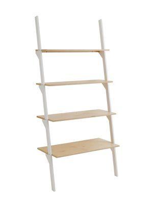 Habitat Jai Wide Ladder Shelving Unit White Homebase