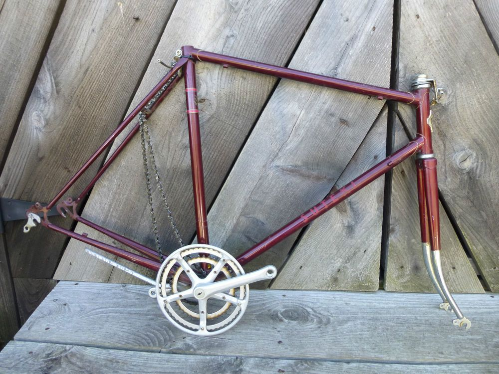 Rare Vintage Suteki Track 10 Road Bike Frame Japan Crankset Forks Chain Kickstan #Suteki