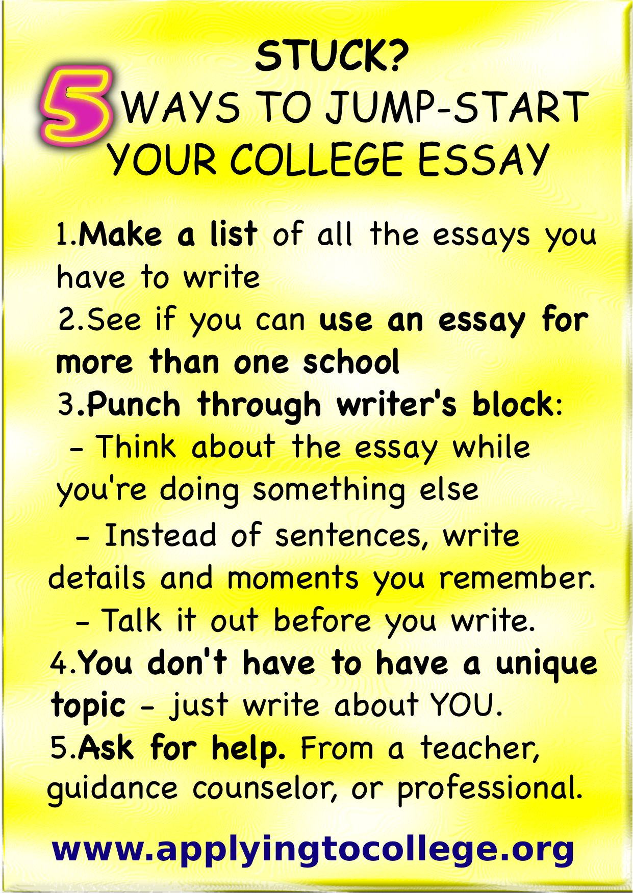 College Admission Essay Tips