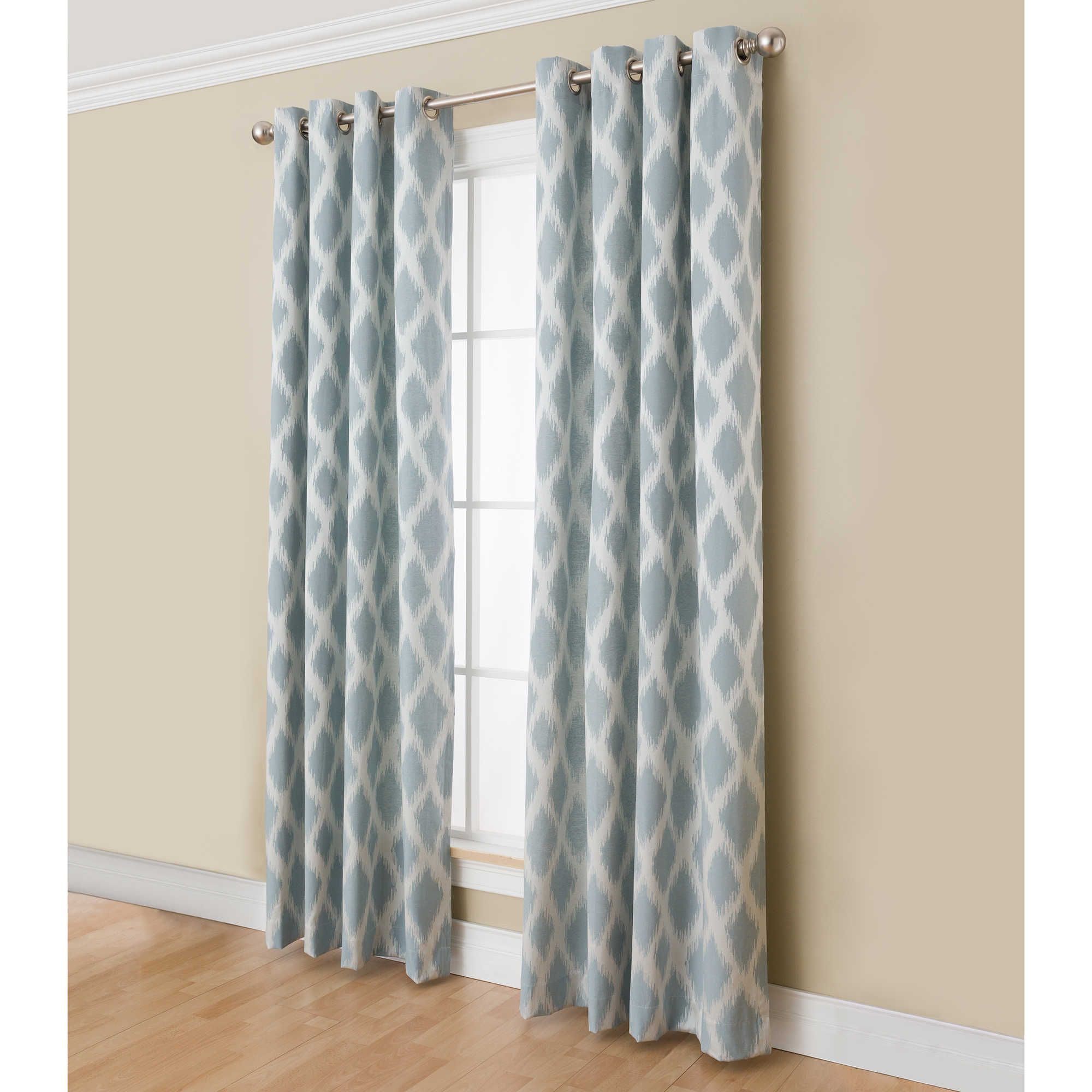 Anaheim inch grommet top window curtain panel in taupe home
