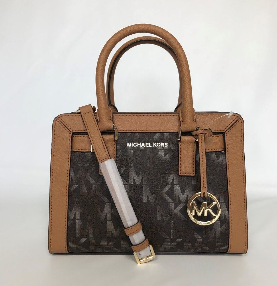 82af1c5b4dfd NWT Michael Kors Dillon Signature PVC Small Satchel Crossbody Bag Brown New  $268 #MichaelKors #TotesShoppersSatchel