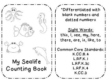 Ocean CVC/Sight Word Emergent Reader (common core aligned