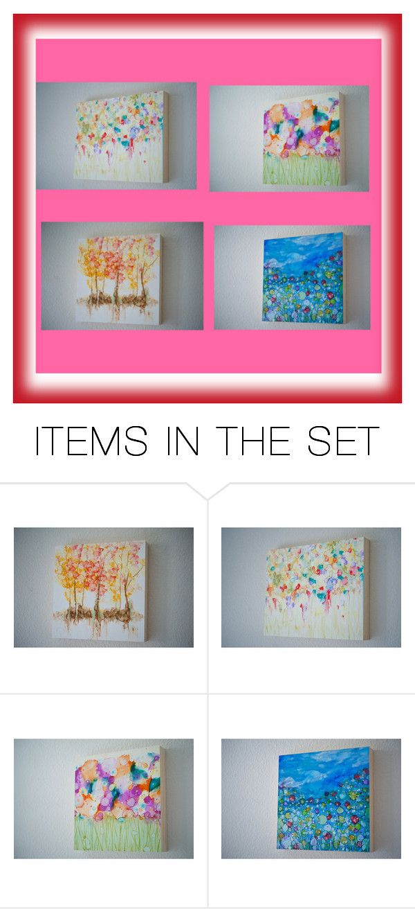 """""""Abstract Art"""" by nadya-mendik ❤ liked on Polyvore featuring art and contemporary"""