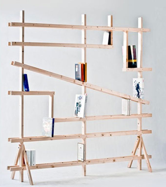 Cool bookshelf to build   Book Community Board   Pinterest