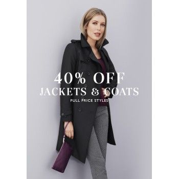 40% OFF Sale on Jackets & Coats @ Jacqui E. - Bargain Bro