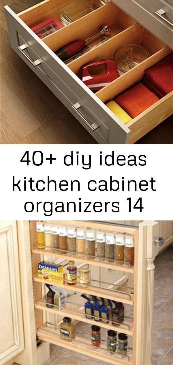 40 diy ideas kitchen cabinet organizers 14 #cabinetorganizers 40 DIY Ideas Kitc #cabinetorganizers