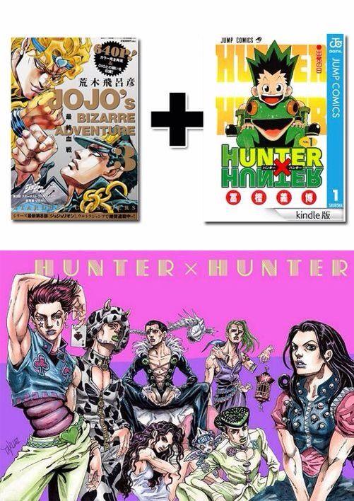 Hunter X Hunter In Hirohiko Araki S Art Style Jojo S Bizarre Adventure Jojo S Bizarre Adventure Hunter X Hunter Jojo Bizarre
