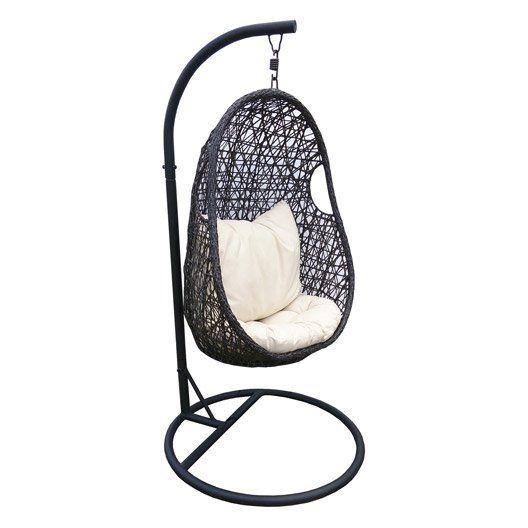 Chaise Suspendue En Resine Tressee Balancelle De Jardin Transat Jardin Fauteuil Suspendu