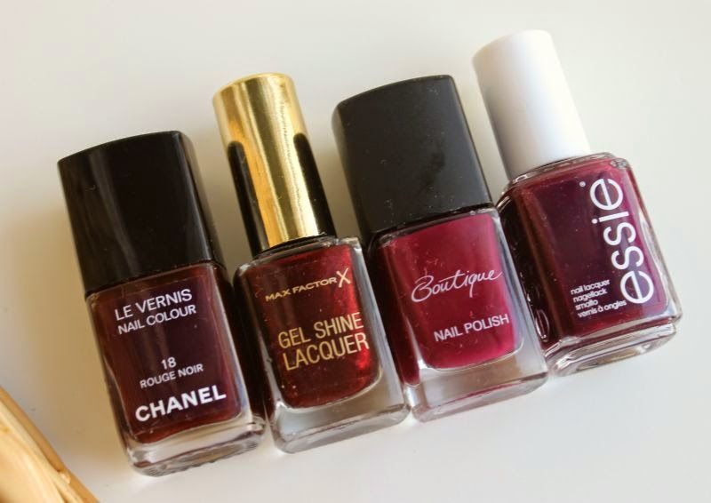 Good dupes for Chanel Rouge Noir Nail Colour include: Essie Sole ...