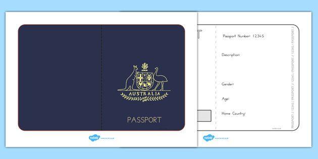 Australian Passport Template - passport, airline, australia Book - passport template