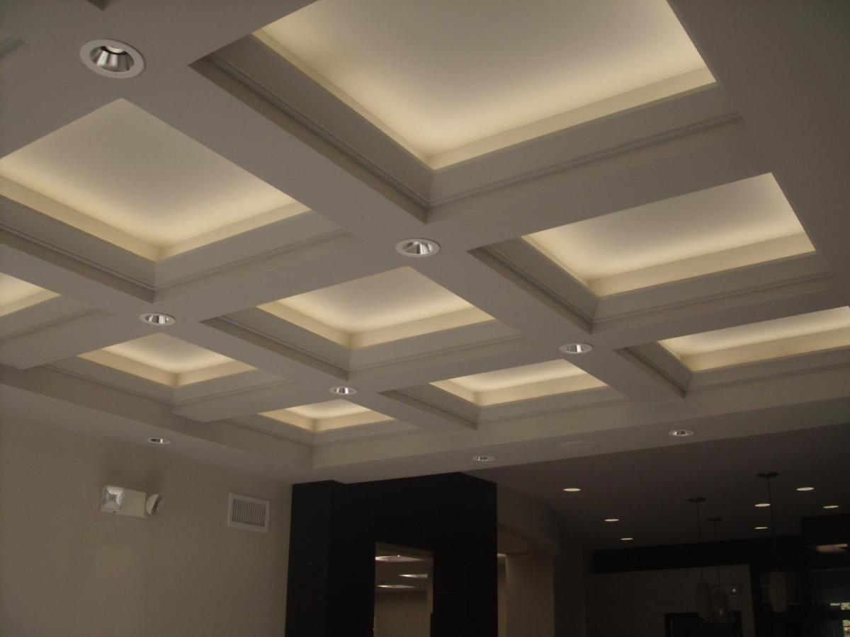 Coffered Ceiling Lighting Landscape