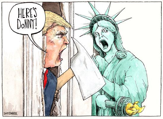 Here S Donny Trump And Liberty Cartoon For Tribune Uk Trump