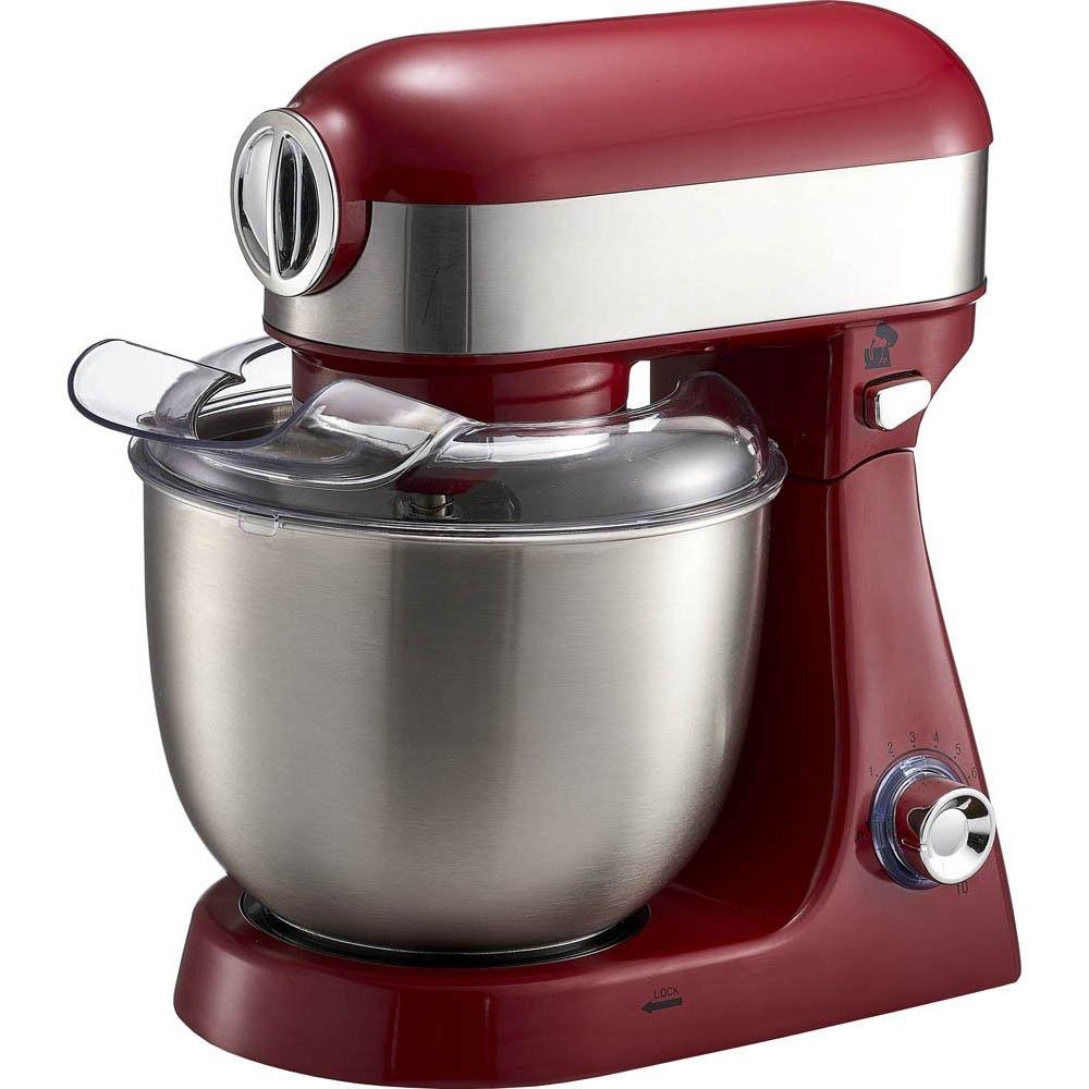 Robot Patissier Cuisilux 4 En 1 Gris Et Rouge 5 L Robot Cuisine Preparation Culinaire Robot Patissier