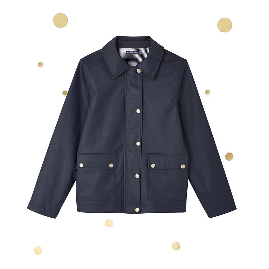 Petit Bateau Womens Suit Style Short Raincoat. X Marie-Agnès Gillot - XXS  Gold 8c0150c5ebe4