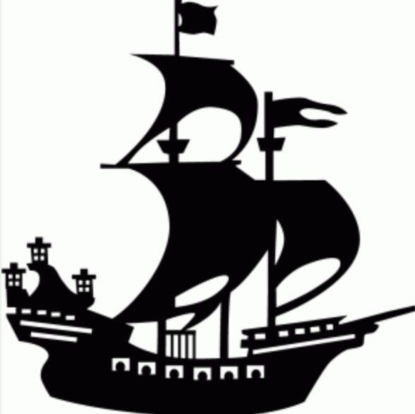 Pirate Ship Ship Silhouette Peter Pan Silhouette Silhouette Design