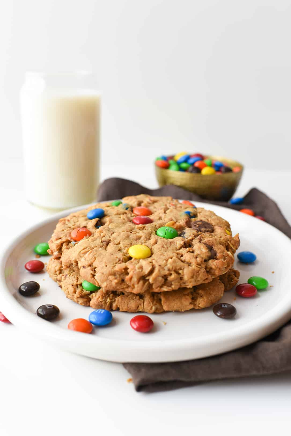 This classic recipe is kicked up a notch and made GIANT! Peanut butter and M&M's work together to create the best cookie recipe ever!