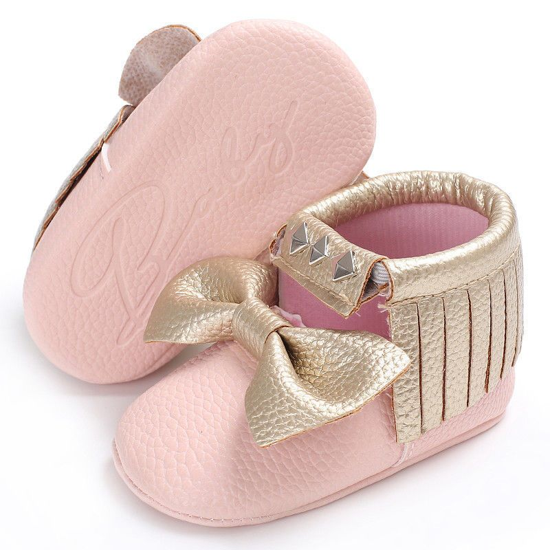Baby Girl Tassel Shoes Soft Newborn Prewalker Sole Sneakers Crib Girls Anti  Slip