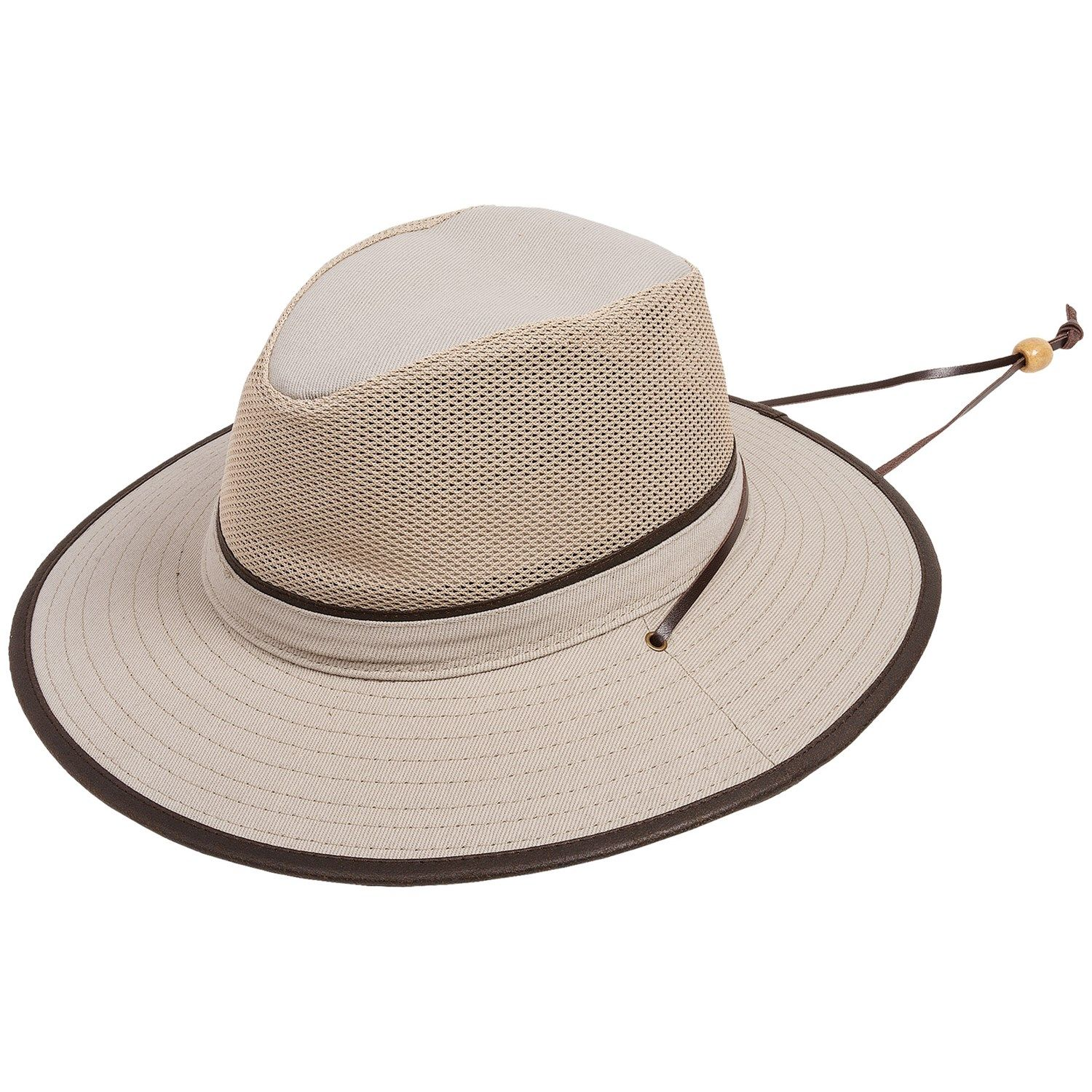 f3174105ef84c Dorfman Pacific Safari Hat Mesh Crown