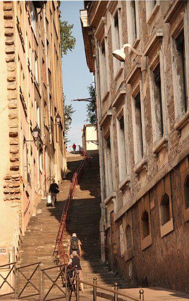 Lyon Quartier St Paul Montee Des Carmes Dechausses Vieux
