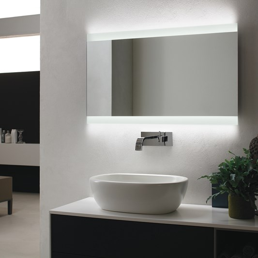 Bathroom Origins Skyline Backlit Led Mirror In 2020 Led Mirror Bathroom Mirror Illuminated Mirrors