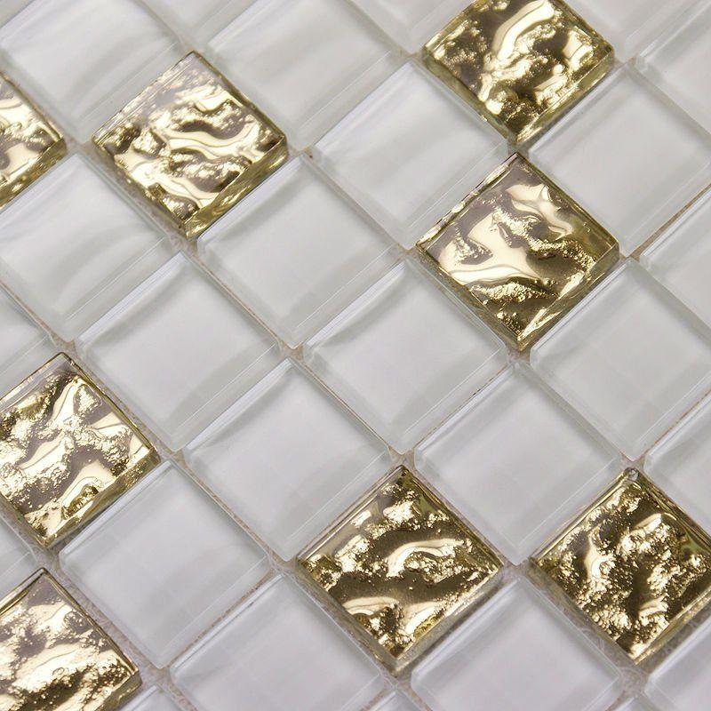 Glass Mosaic White Wall Tiles Kitchen Splash Crystal Glass Tile Crystal Glass Kitchen Bathroom Wall Stickers Cheap Kitchen Backsplash Kitchen Tiles Backsplash