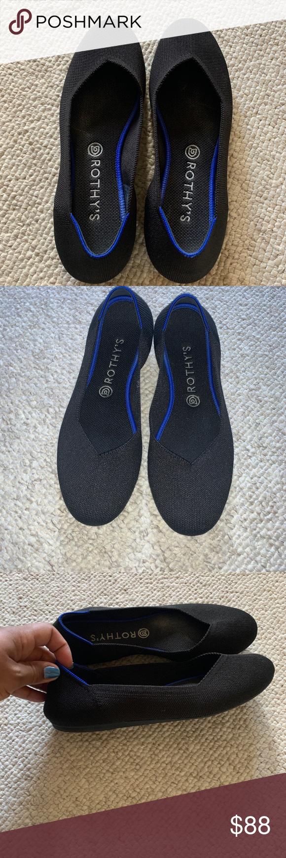 Rothy's round toe black flat size 10.5