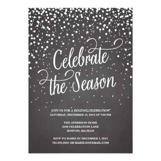 First snow holiday party invitation Snow holidays, Holiday party