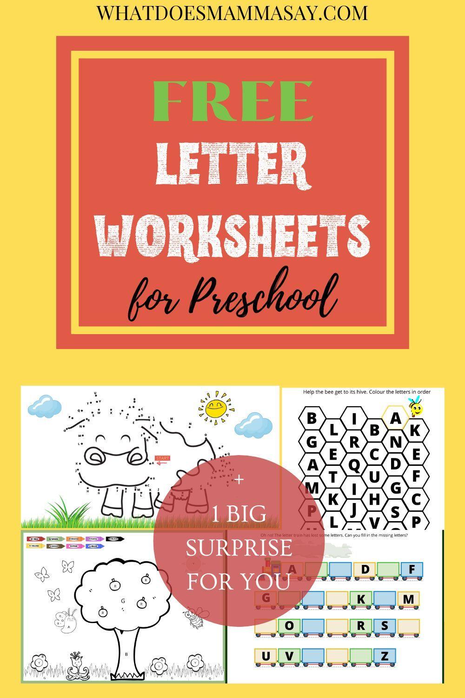 Free Letter Worksheets For Preschool Letter Worksheets For Preschool Teaching Letters Teaching [ 1500 x 1000 Pixel ]