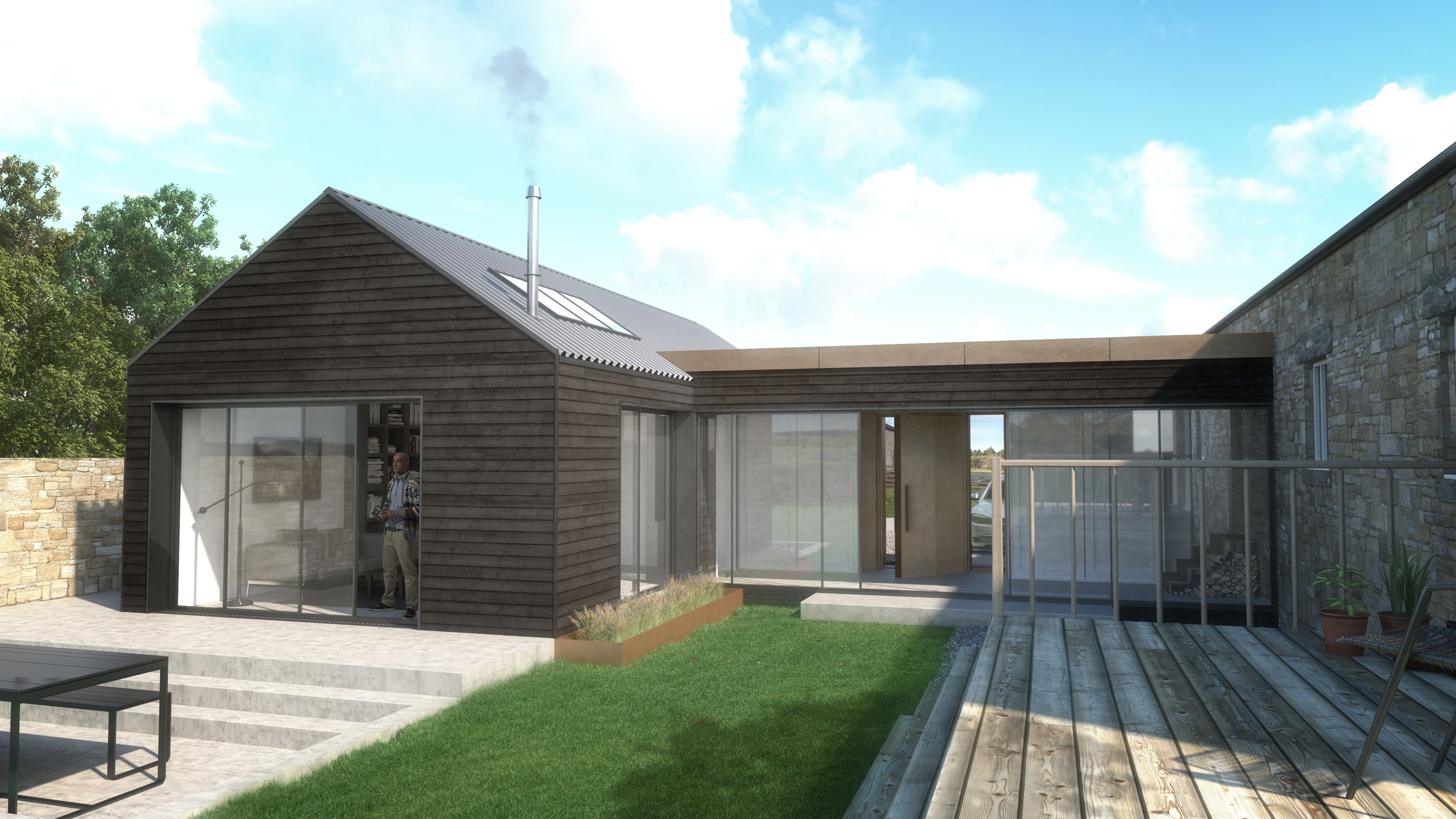 Marvelous Our Concept Is Complete For A Garage Conversion And Extension In Slayley,  Northumberland. We