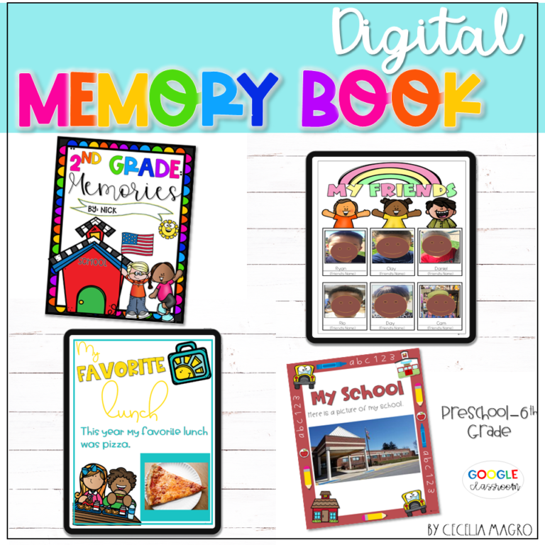 Digital Memory Book End of the Year Activities I Love