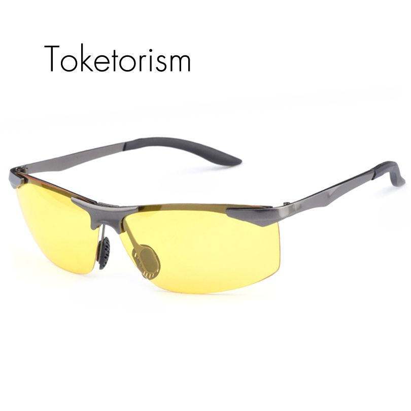 Toketorism HD polarized night vision sunglasses Aluminum-magnesium alloy high end driving Goggles 741A