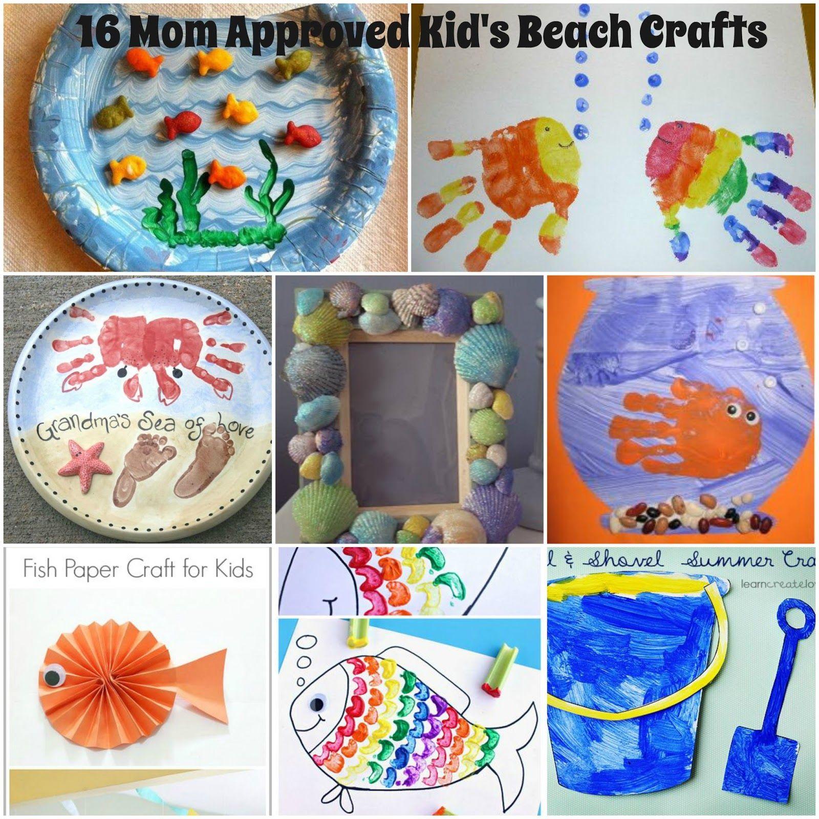 Summer Beach Crafts For Preschoolers Beach Crafts For Kids