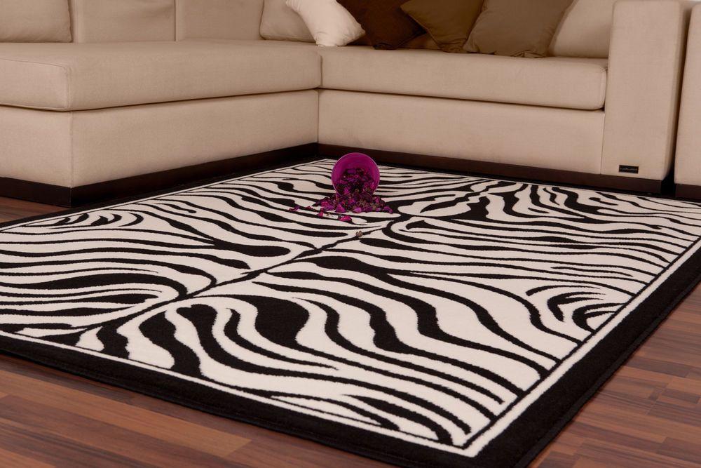 Teppich fußboden design usa housten schwarz weiß 80cmx150cm a100962