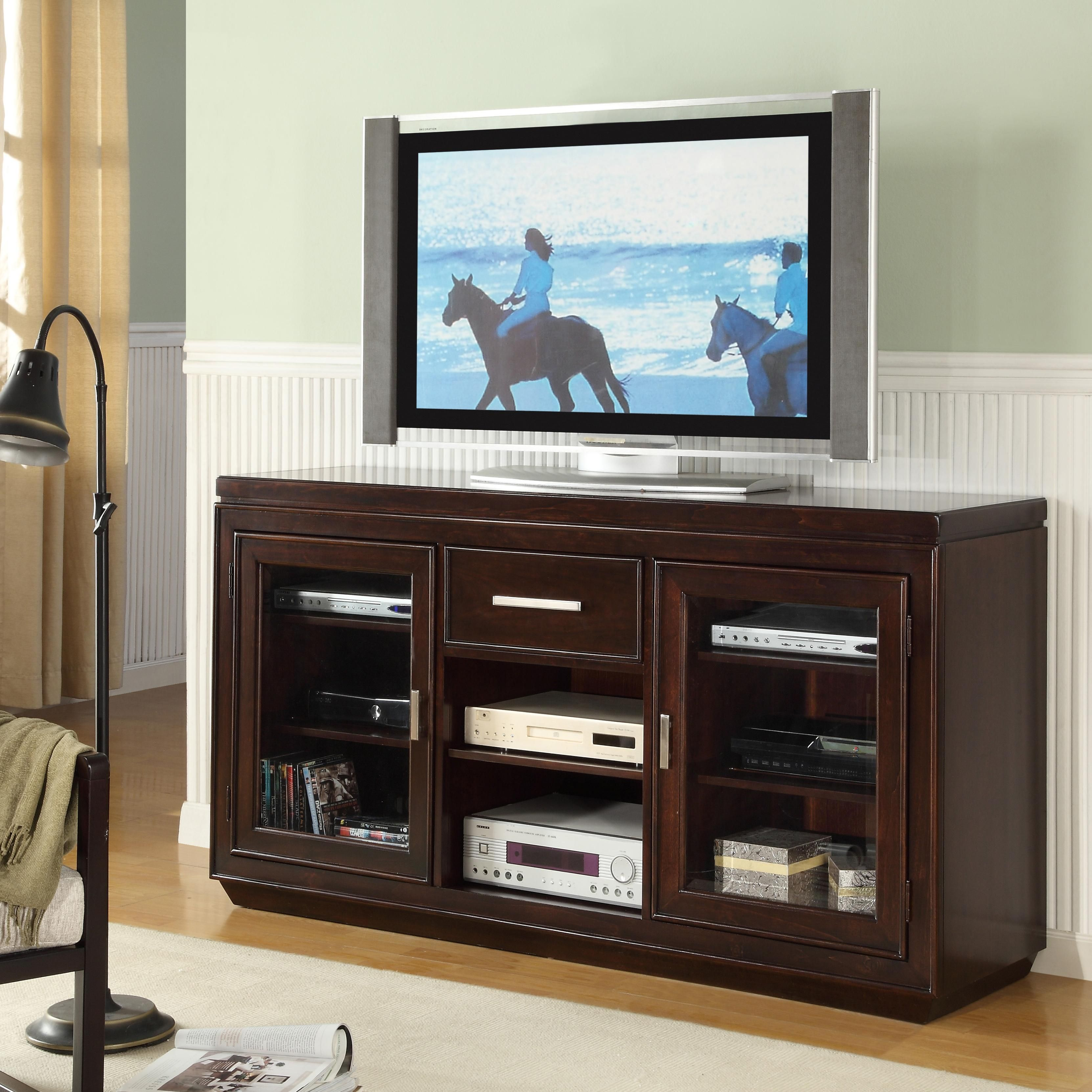 Parkview Glass Door TV Console | The House - Rec Room ...