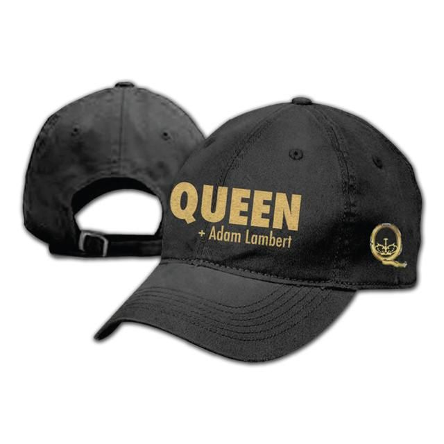 c376047d4498f Check out Queen + Adam Lambert Gold Hat on  Merchbar.