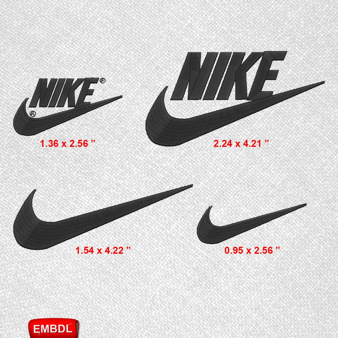 Nike Logo Pack- Embroidery Design Instant Download #EmbroideryDownloadCom