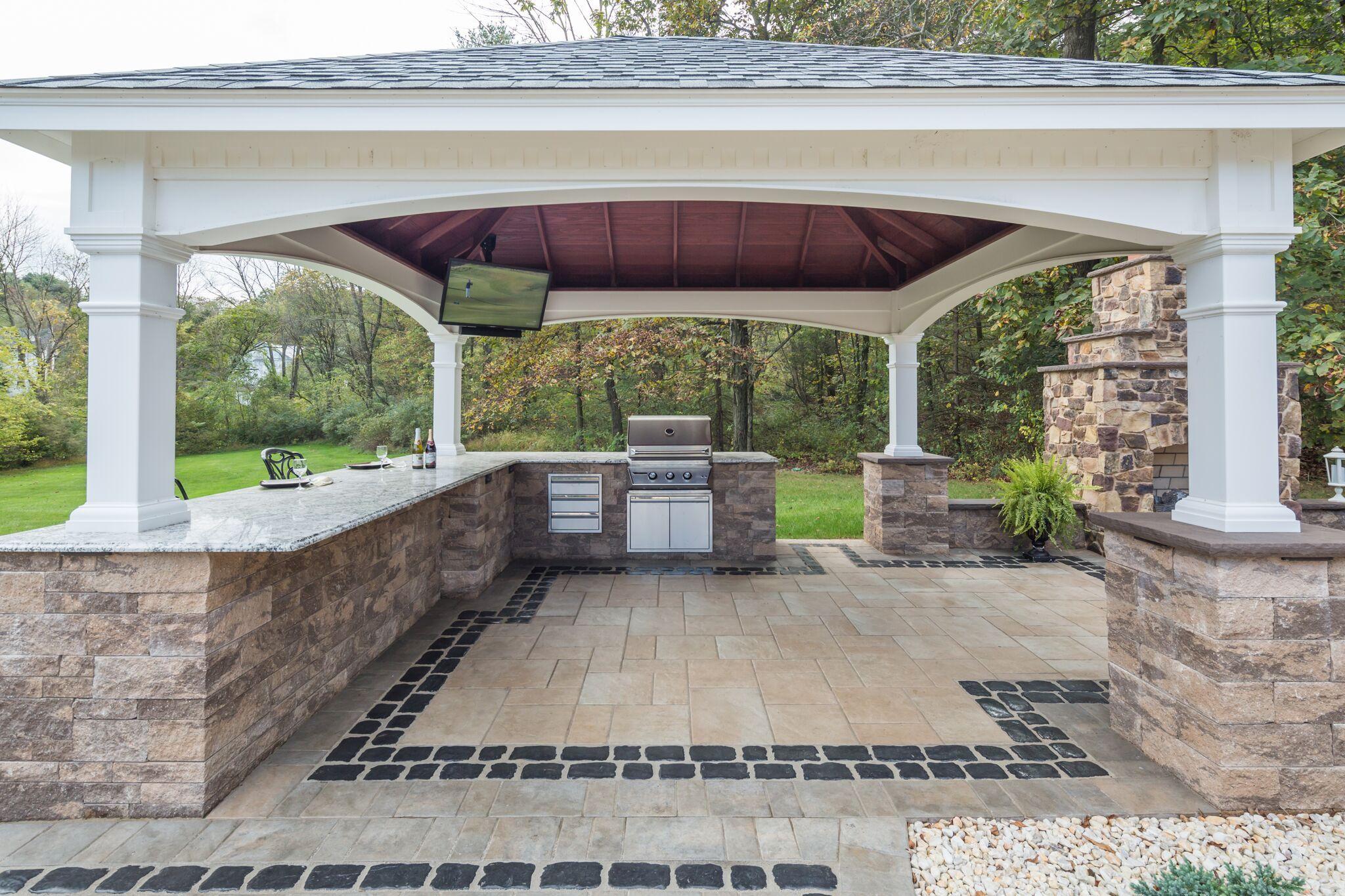 Custom Built Pavilions For Your Backyard Outdoor Kitchen Design Outdoor Kitchen Design Layout Outdoor Kitchen