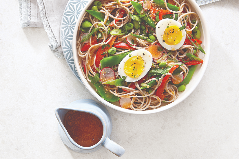 Warm Noodle Salad with Soft-Boiled Eggs | Canadian Living