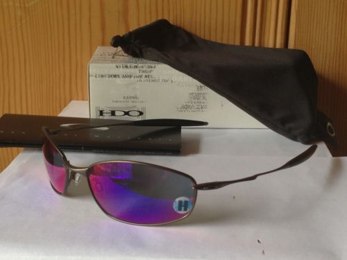 38bbc2040f NEW-OAKLEY-Titanium-Ti-Whisker-Sunglasses-Pewter-Frame-Red-Iridium-12-781