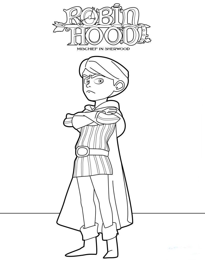 Ausmalbilder Robin Hood Schlitzohr Von Sherwood  Robin hood