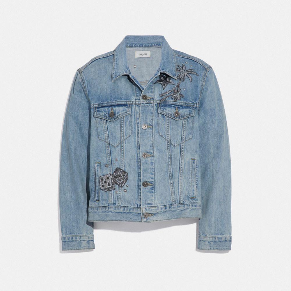 Coach Coats Embellished Denim Jacket Embellished Denim Jacket Embellished Denim Denim Jacket Women [ 1000 x 1000 Pixel ]