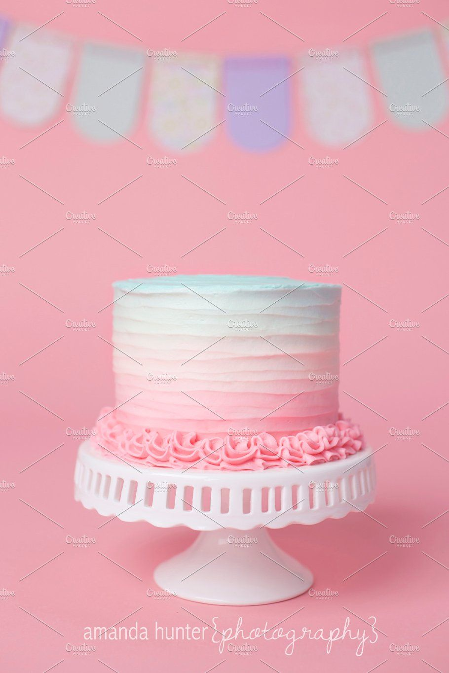 Pink Blue Ombre Birthday Cake By Amanda Hunter Photo On