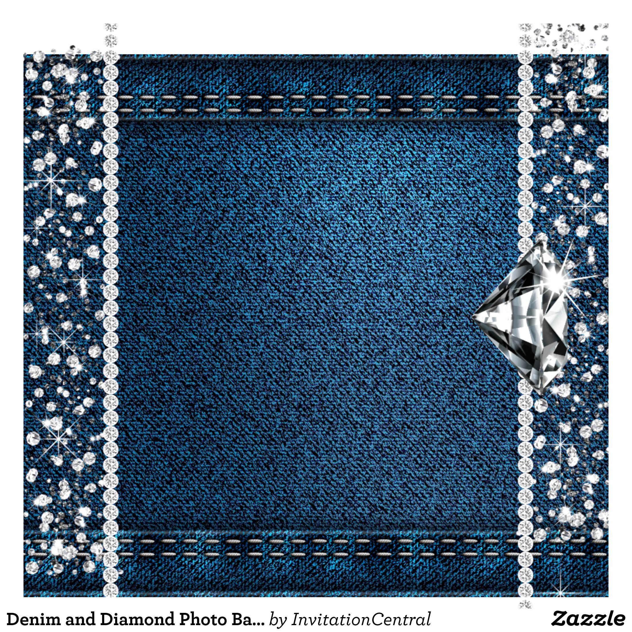 Denim And Diamond Photo Backdrop Photo Booth In 2021 Denim And Diamonds Diamonds And Denim Party Alcohol Bottle Crafts