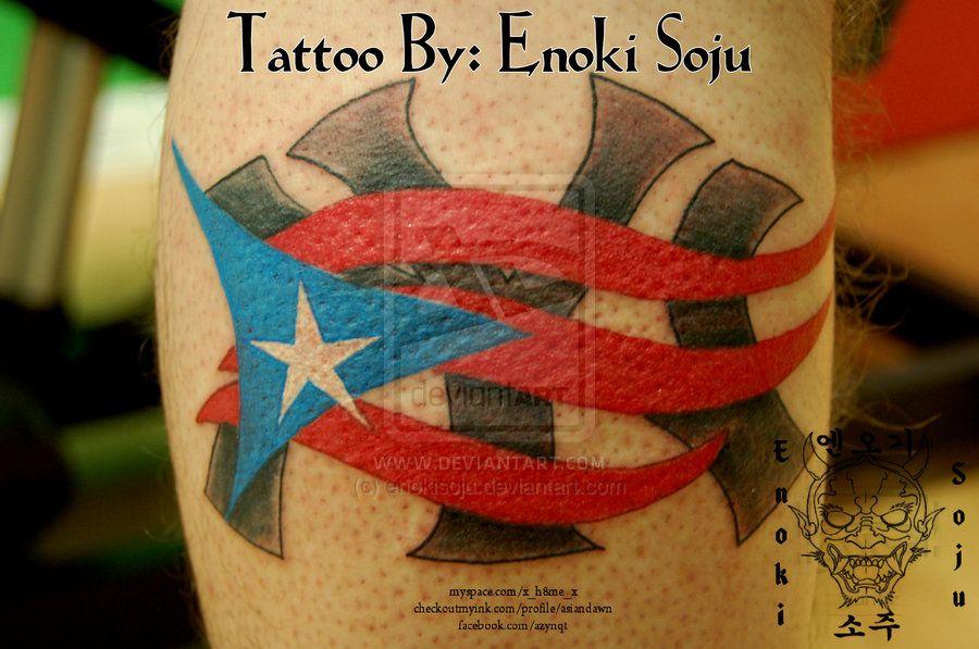 Puerto Rican Flag Tattoo Design Tattoos Flag Tattoo New York Tattoo