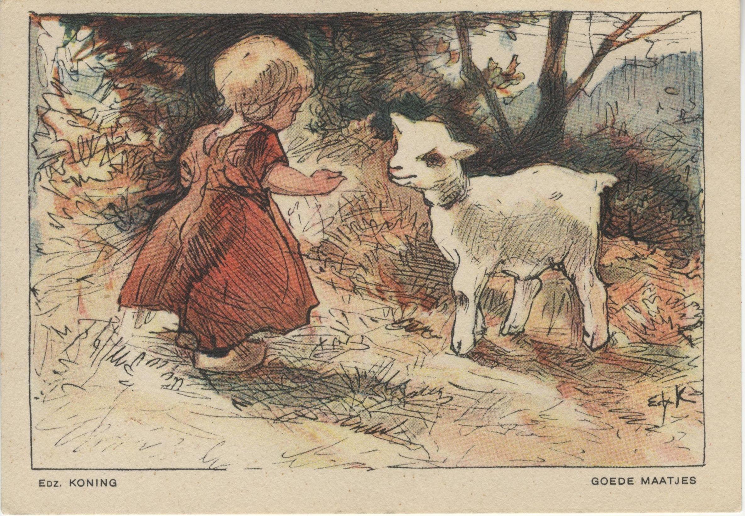"""NBvK 1930 kaart 1 """"goede maatjes"""""""