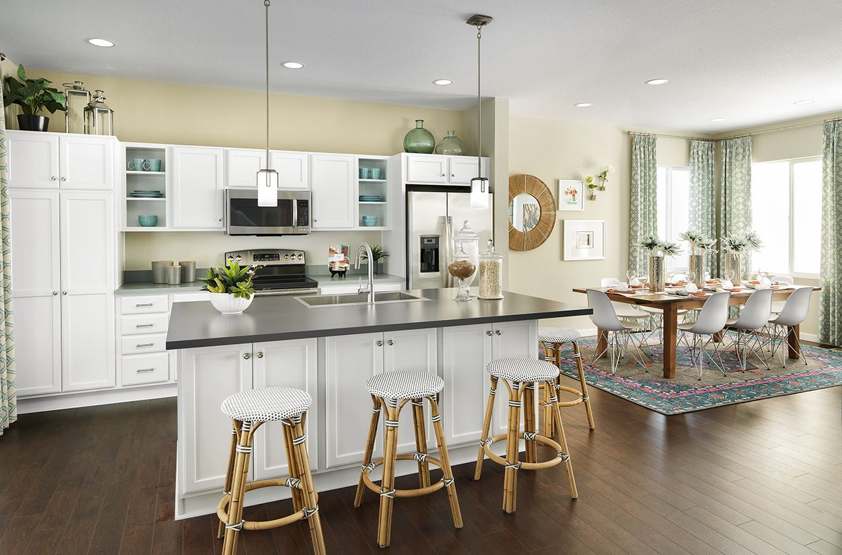This Kitchen And Dining Space In The 3554 Model From Shea Homes